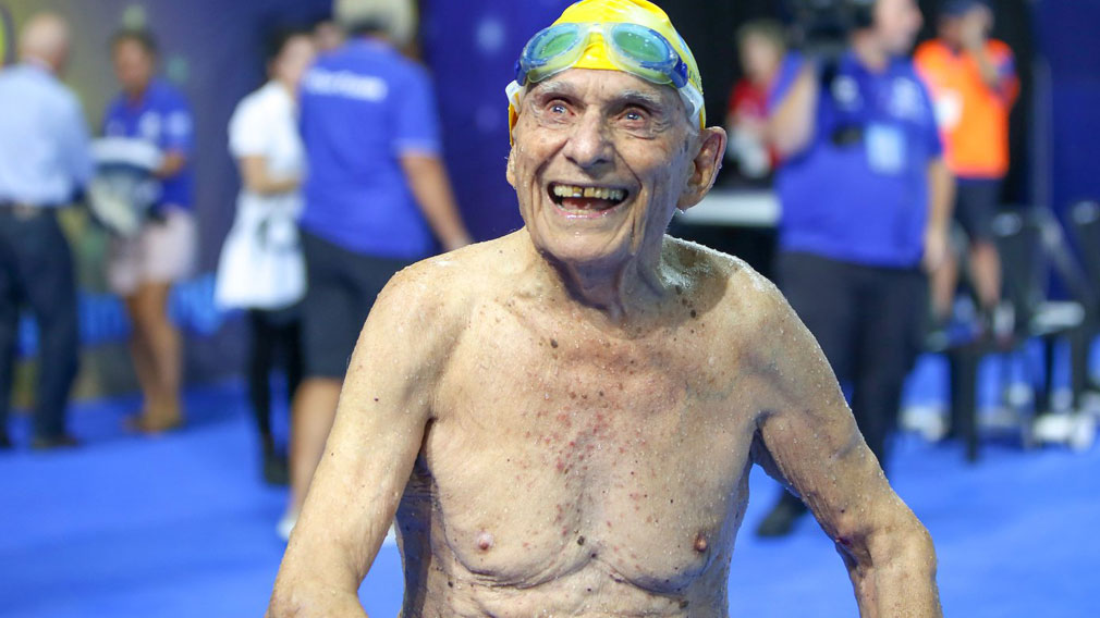 This 99 year old just destroyed the 50M Freestyle World Record. He started swimming at the young age of 80!
