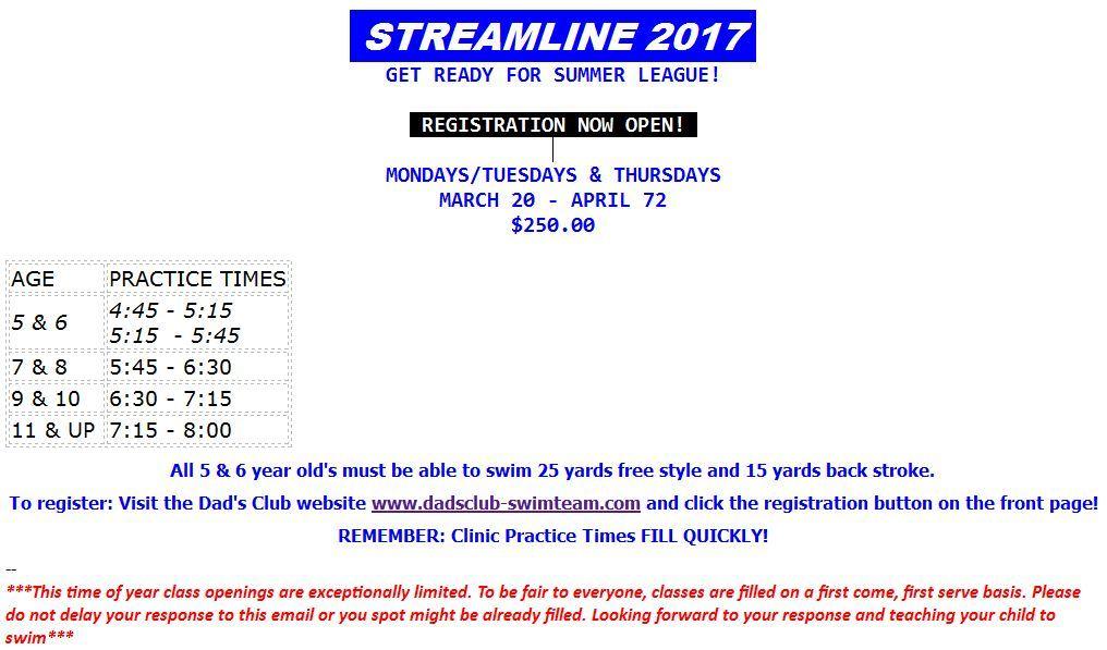 2017 Dads Club Streamline