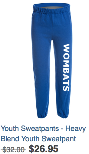Youth Sweatpants Blue